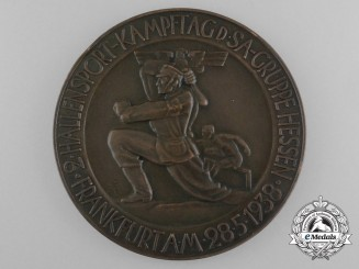 A 1938 SA Award for the 2nd Hallensport Kampftag of the SA-Group Hessen Frankfurt