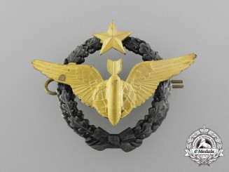 France Republic. A Air Force Navigator/Bombardier Badge; Vietnam Period