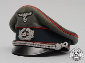 A Wehrmacht Heer (Army) Flak/Artillery Officer's Cap by Erel Sonderklasse