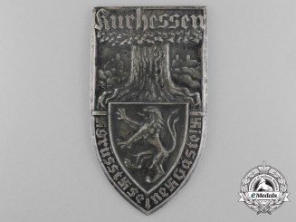 "A Kurhessen Greeting Plaque inscribed ""Kurhessen Greets its Guests"" by Gebrüder Fest"