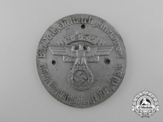 A 1938 Austrian Anschluss Plebiscite Aid Services Arm Shield by Richard Sieper & Söhne