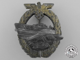 A Kriegsmarine Second Pattern German E-Boat Badge