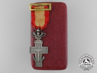 A Silver Cross of the Order of Naval Merit with White Distinction with Case 1891-1931