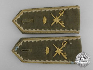 A Set of Franco Era Spanish Army General's Shoulder Strap Pair