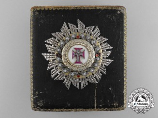An Exquisite Order of Christ; Breast Star with Brilliants by Frederico Da Costa