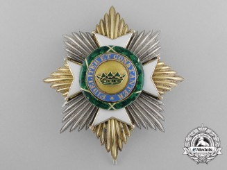 A Saxe-Ernestine House Order; Grand Cross Breast Star Type II (1864-1935)