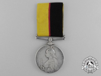 A Queen's Sudan Medal 1896-1897 to Private W. Evans; 1st Battalion Grenadier Guards