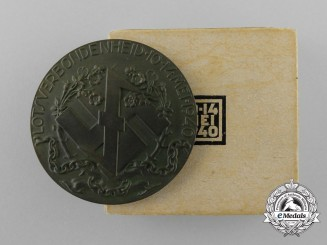 A Mint NSB Medal of German Citizens Interned by the Dutch Government in its Original Case of Issue