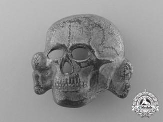 A Second Pattern (1934-1945) Waffen-SS Visor Skull by Overhoff & Cie, Lüdenscheid