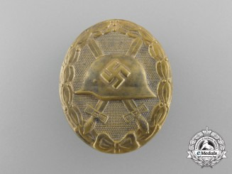 A German Second War Gold Grade Wound Badge by Eugen Schmidthäussler