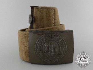 A Second War German Tropical Afrikakorps Belt with Buckle