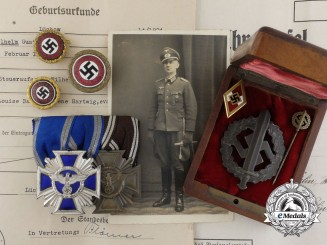 Germany, NSDAP. The Awards, Badges, & Membership Documents of Wilhelm Bahr and his Paramilitary Career