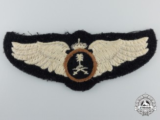 A Royal Saudi Air Force (RSAF) Pilot Wings