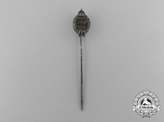A First War Imperial German Pilot Badge Stickpin in Alpaca