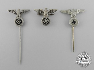 A Complete Set of Second War German Early NSDAP Stick Pins and Badges