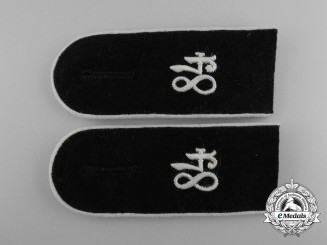 A Matching Pair of Wehrmacht 84th Infantry Division Enlisted Man's Shoulder Boards