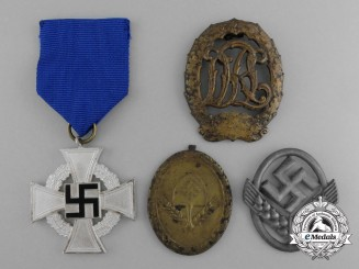 A Lot of Four Third Reich German Medals, Awards, and Decorations