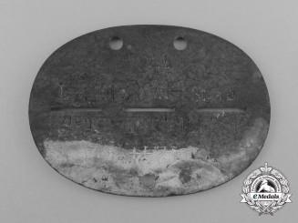 An Austrian 1244 Luftgaukommando XVII Stab Identification Tag