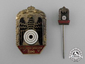 A German Shooting Association Badge with Stickpin