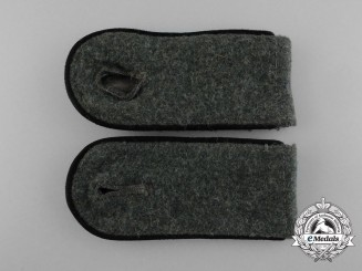 A Matching Pair of Wehrmacht Pioneer Enlisted Man's Shoulder Boards