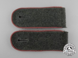 A Matching Pair of Wehrmacht Panzer Enlisted Man's Shoulder Boards
