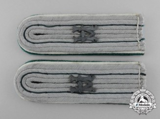 A Matching Pair of German Army Administrator's Shoulder Boards