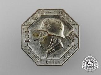"""A Third Reich Period """"People's Winter Aid"""" Wehrmacht Mühlhausen Garrison Badge"""