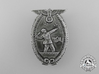 "A 1939 Stettin ""Day of the Wehrmacht"" Celebration Badge"