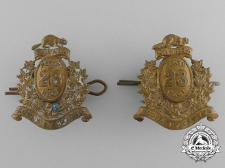 A Set of Post-1900 28th Perth Regiment Collar Badges