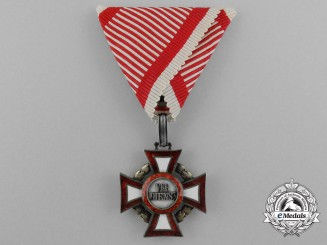An Austrian Military Merit Cross; 3rd Class by V.Mayer