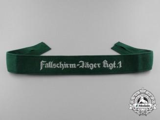 """A Luftwaffe Cufftitle """"Fallschirm-Jäger Rgt.1"""""""