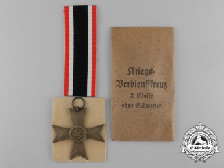 A Mint War Merit Cross Second Class without Swords in Original Packet by Deschler