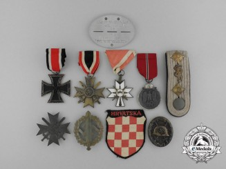 A Group of Awards to a Croatian Staff Physician Serving with the German Forces