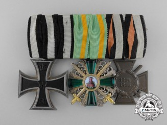 A First War Order of  the Zahringen Lion Medal Bar