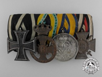 A German Imperial Veteran's Medal Bar with Four Awards