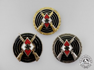 A Collection of Documents & Sniper Badges to HJ Master Marksman Paul Förster