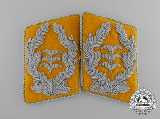 A Mint and Uncirculated Set of Luftwaffe Flight Oberst Collar Tabs