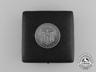"A Munich ""Capital of Movement"" Silver Medal in Original Case of Issue"