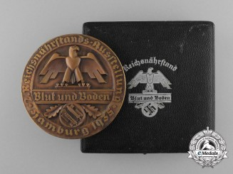 A Cased Blut und Boden (Blood and Soil) Medal for Tobacco, Hamburg 1935