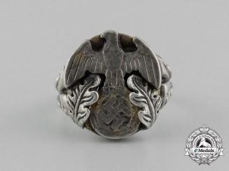 A 1930's German Patriotic Silver Ring
