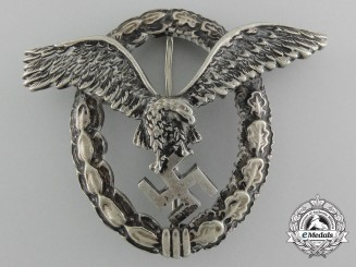An Early Luftwaffe Pilot's Badge by Assmann