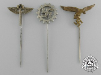 A Lot of Three Third Reich Reich Period Stick Pins