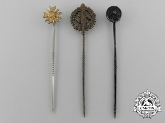 A Lot of Three Third Reich Period Miniature Awards and Decorations