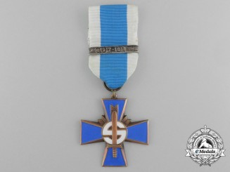 A Finnish Blue Cross for the Civil Guard for the 1917-1918 War by Veljekset Sundqvist