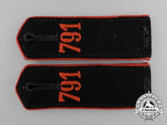 An Unissued Set of Matching 791st Stab HJ Shoulder Boards; RZM Tagged
