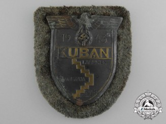 A Wehrmacht (Army) Issued Kuban Campaign Shield