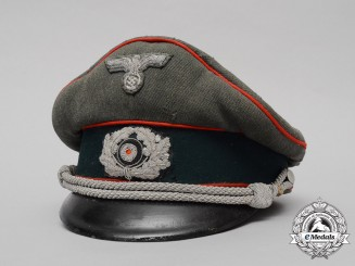 Germany, Heer. A Flak Officer's Visor Cap, by Clemens Wagner