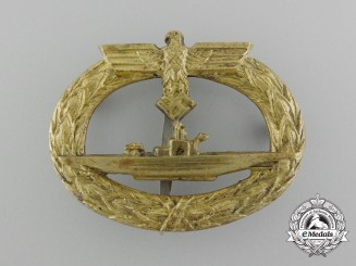 A Kriegsmarine Submarine Badge by C.E. Juncker