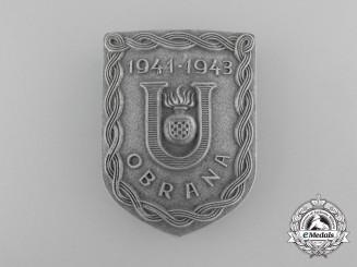 A Second War Croatian Ustaša Defense Badge