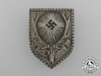 A German Hunting Association Gamekeeper's Badge; Numbered